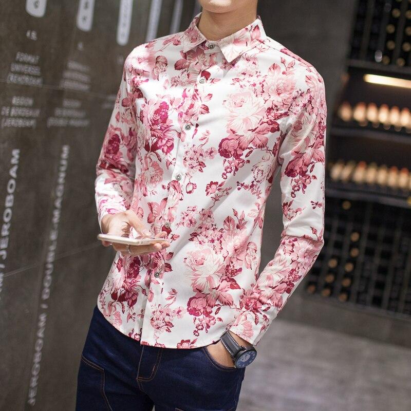 Mens Pink Floral Shirt | Is Shirt