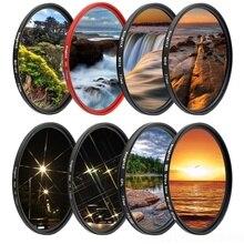مرشح عدسات كاميرا نايتكس FLD UV ND Star لكانون سوني نيكون 500d d5300 اكسسوارات التصوير 2000d d70 400d 700d dslr set