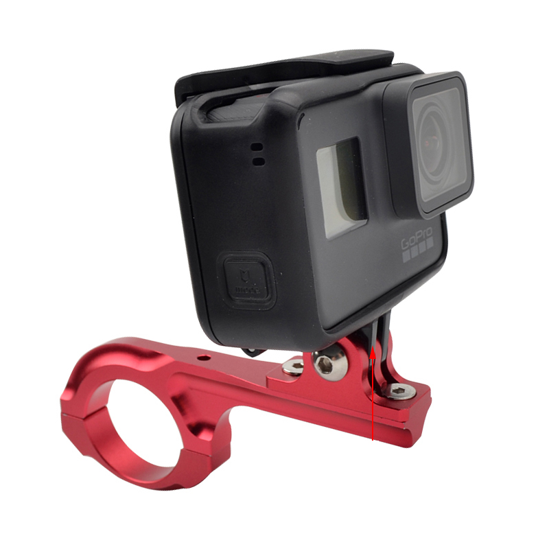 Купить с кэшбэком CNC Aluminum Bike Handlebar Mount Bicycle Motorcycle Holder for Gopro Hero 7 5 6 4 3+ SJCAM SJ4000 Xiaoyi 4K Camera Accessories