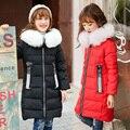 Meninas Crianças Casaco de Inverno Casacos de Pato Para Baixo Parkas Crianças Outerwear do Inverno Engrossar Quente Roupa Do Bebê Meninas Roupas