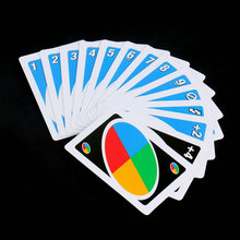 Topsale Puzzle Games 172.8g 108 Cards Family Funny Entertainment Board Game UNO Fun Poker Playing Cards