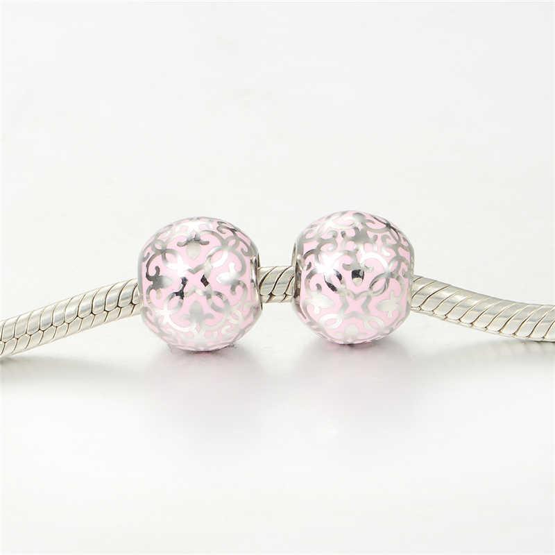 Европейские ювелирные изделия, подвеска в виде светящегося шара из стерлингового серебра 925 пробы, подходит для массивного ожерелья и браслета, модные ювелирные украшения