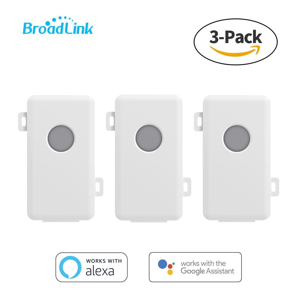 Interruptor Wifi BroadLink de 3 paquetes, caja de Control Wi-Fi para solución de hogar inteligente, Control remoto de voz por Google Home y Alexa