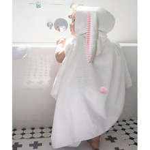 ANKRT 2018 Infant Baby Boy Girl Animal Bathrobe Hooded Bath Towel Toddler Kids Bathing Rabbit