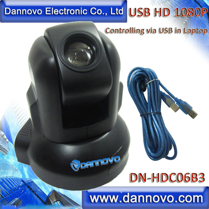 DANNOVO USB HD PTZ Webcam,Video Conferencing System Camera,3x Zoom,Support Microsoft Lync,Cisco Jabber,WebEx,Skype(DN-HDC06B3) dannovo 1080p 720p usb ptz video conference room camera 10x optical zoom 360 rotation support skype msn lync