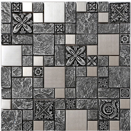 Grey emboss Resin 3D Glass Backsplash wall sticker,Home Kitchen Bathroom tiles silver drawbench metal home improvement marble stone mosaic tiles natural jade style kitchen backsplash art wall floor decor free shipping lsmb101
