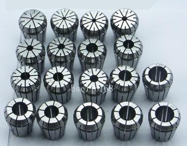 New 19 PCS ER32 SPRING COLLETS SET (Range 2mm-20mm) ER32 Collet Chuck CNC Mill 1pcs mt3 m12 er32 collet chuck morse taper holder with 9pcs er32 spring collets for cnc lathe milling tool