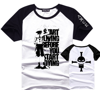 One Piece Portgas D Ace T Shirt Men Boy Cotton Tee Anime T-Shirts Tshirt