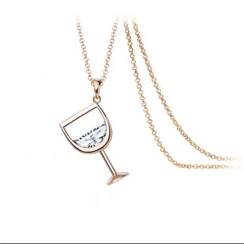 2017 Fashion Women's Wine Glass Necklace