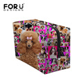2017 Multi-function Women Make up Cute Animal Poodle Pug Dog Rottweiler Print Organizer Cosmetic Pouch Travel Bag Bolsas