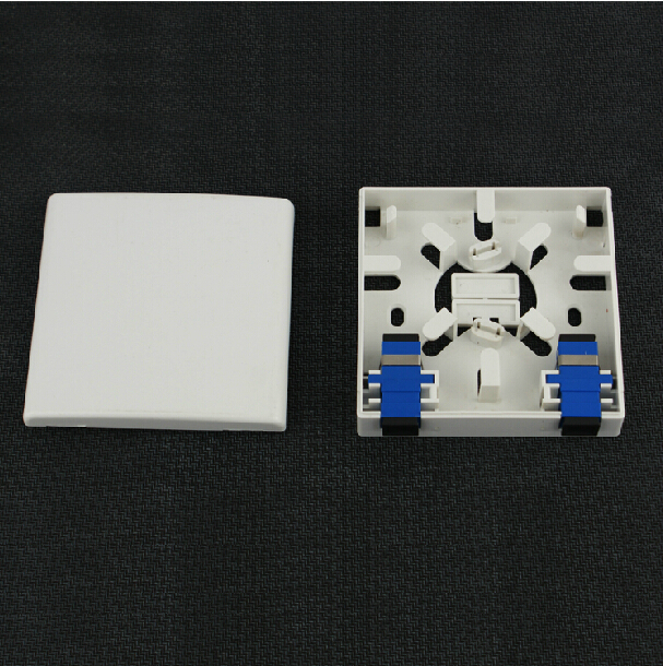 100pcs lot FTTH Fiber Optic Terminal Box Socket Panel ABS Material 86 type SC Port