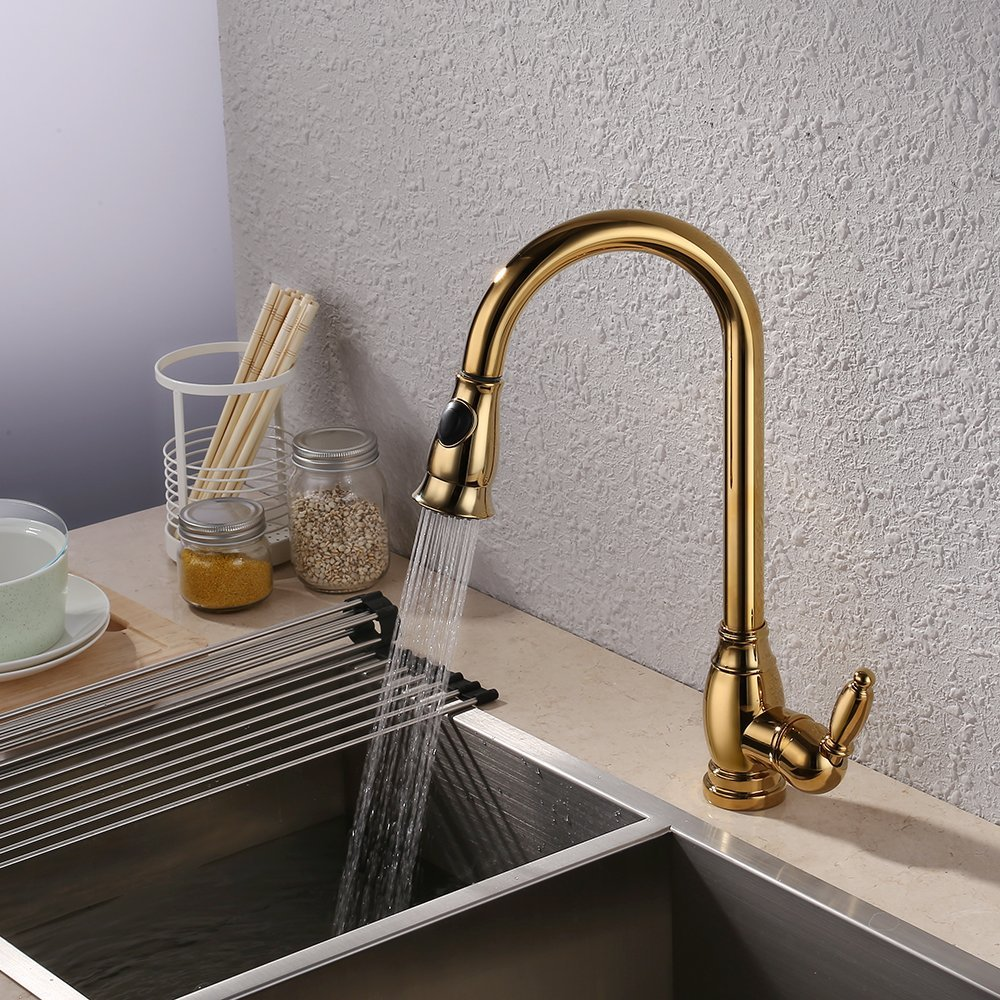 online get cheap pull down faucet gold aliexpress com alibaba group