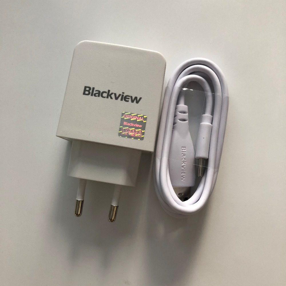Nouvelle D'origine Voyage Chargeur + USB Type-C Câble Pour Blackview BV8000 Pro MTK6757 Octa Core 5.0 FHD de suivi