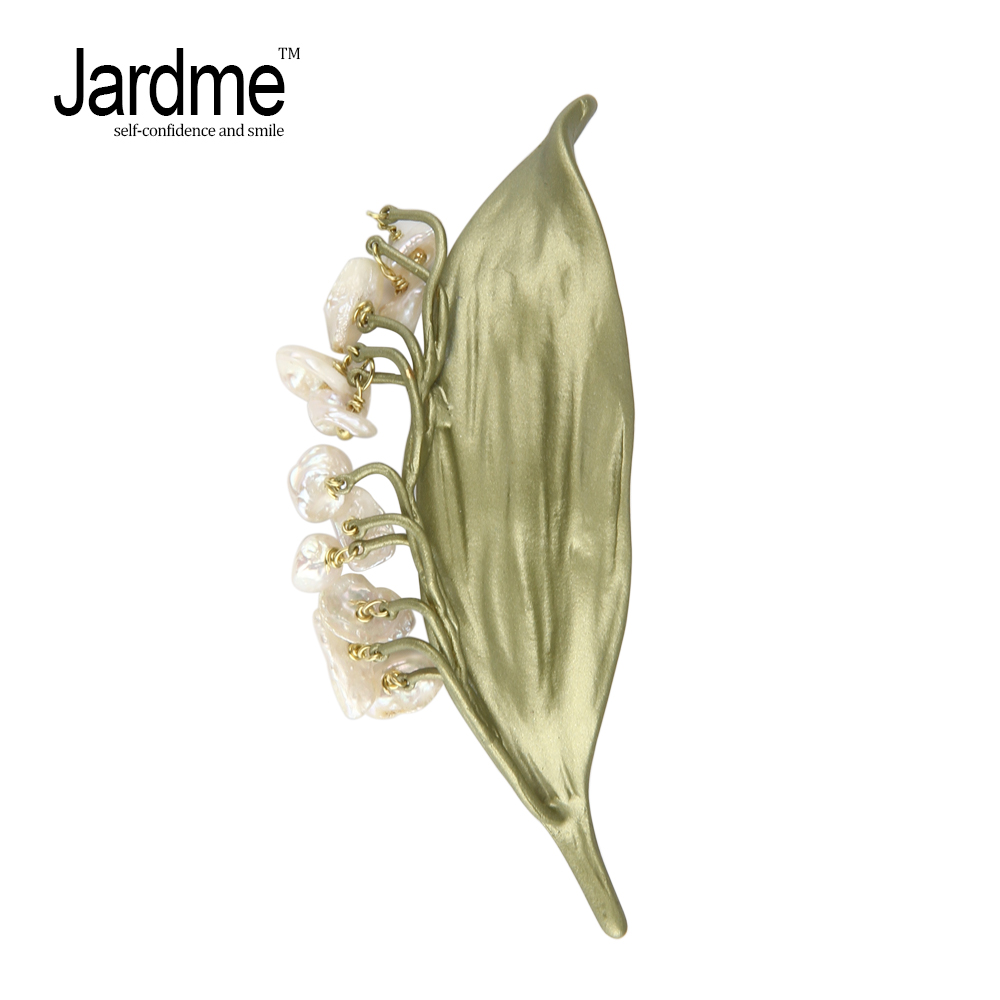 Jardme NEW DESGIN Hyacinth Plant Brooches Lifelike Elegant Fashion Brooches Scarves Buckle Accessories