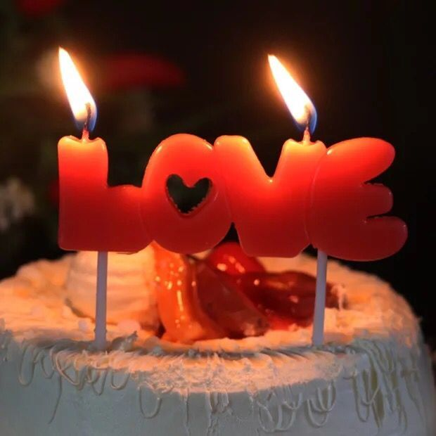I Love You Letter Happy Birthday Candles Novelty Anniversary Wedding Romantic Cake Party Decor LUHONGPARTY In Decorating Supplies From