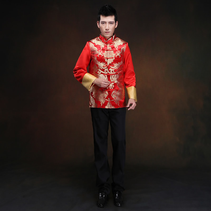 Buy 2016 new red chinese men 39 s costume for Traditional chinese wedding dress hong kong
