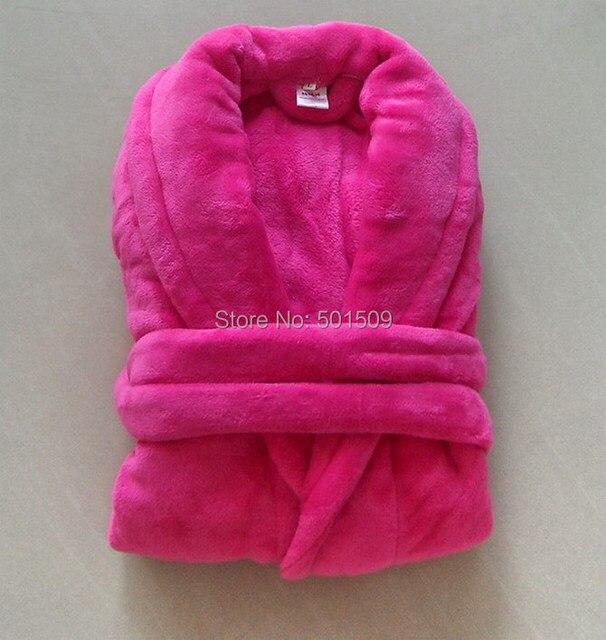 Женщин розовый микрофибра халат супер мягкая робы ночное ядро флис волокно естественная микрофибра