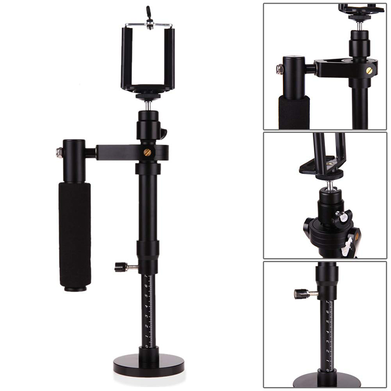 Image 5 - Camera Stabilizer S30 Aluminum Alloy Handheld Gimbals Stabilisateur Smartphone Tripod Heads Phone Clip For SJCAM Gopro 7 Camera-in Tripod Heads from Consumer Electronics