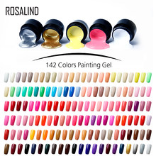 ROSALIND boyama jel lehçe vernik 5ml gerek taban pardösü manikür DIY tırnak sanat jel oje