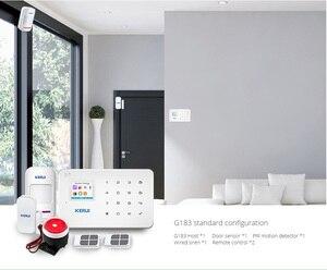 Image 3 - KERUI NUOVO G183 WCDMA 3g Senza Fili di Sicurezza Domestica di GSM 3g sistema di Allarme APP di Controllo Remoto di Allarme Antifurto Pir allarme del Sensore di movimento