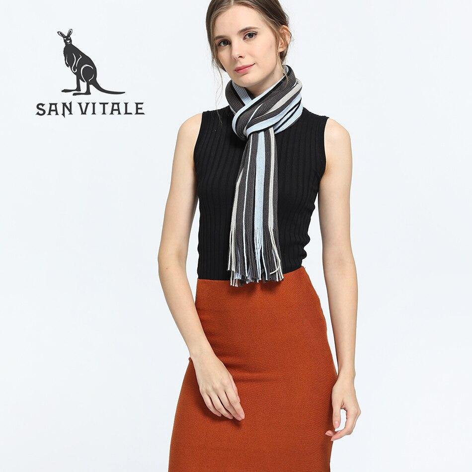San Витале Для женщин Шарфы для женщин зима теплая шаль Элитный бренд мягкие модные утеп ...