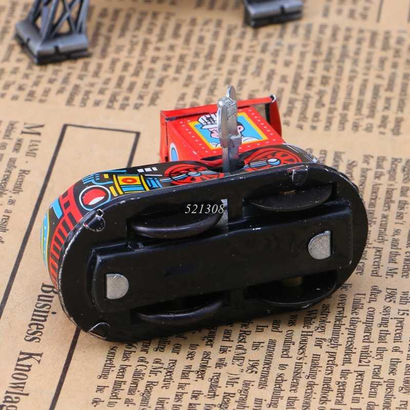 Retro Kereta Uap Reminiscence Anak-anak Vintage Tin Toy Clockwork Mainan Hadiah