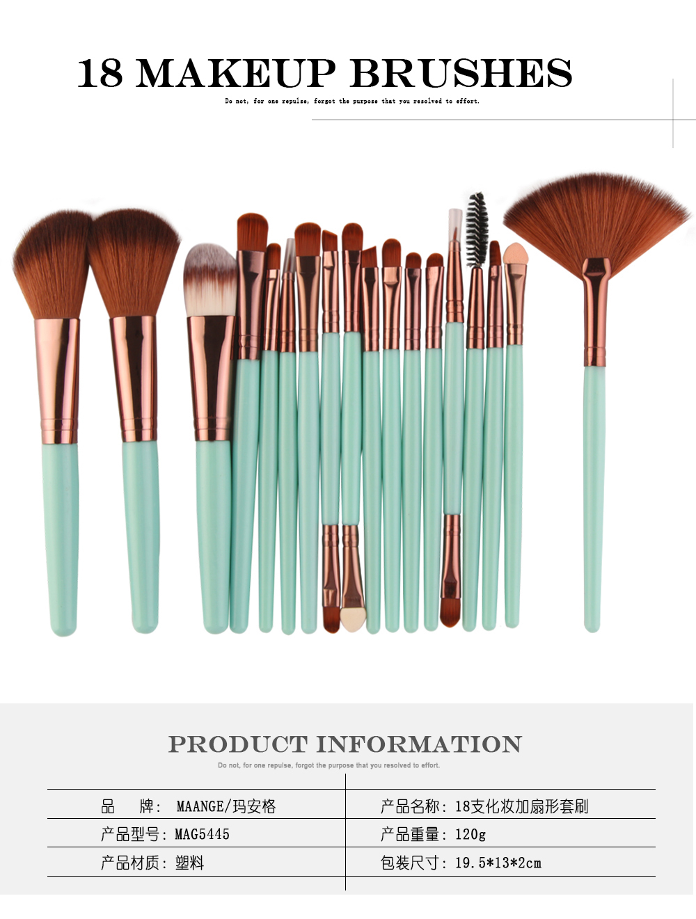 18 Pcs Makeup Brushes Set Eyeshadow Eyelash Highlight Powder Foundation Brush Soft Women Make Up Brush Kit Pincel Maquiagem