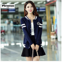 2016 Brands Cardigan Women Spring and autumn Casual Stitching Knit sweater Fashion Sweater Young girl long sweaters