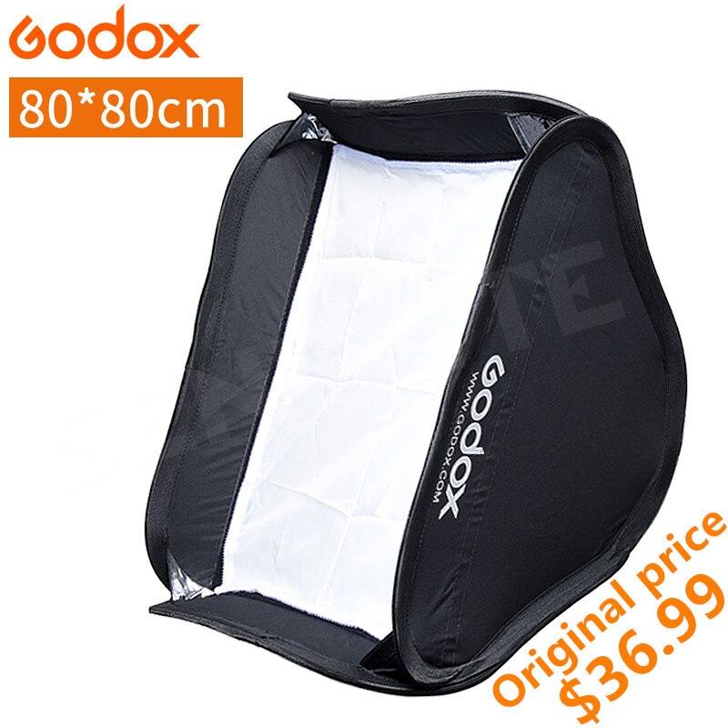 купить Godox 80x80 cm Softbox Diffuser Reflector for Speedlite Flash Light Professional Photo Studio Flash Fit Bowens 80*80cm Soft Box по цене 2485.99 рублей