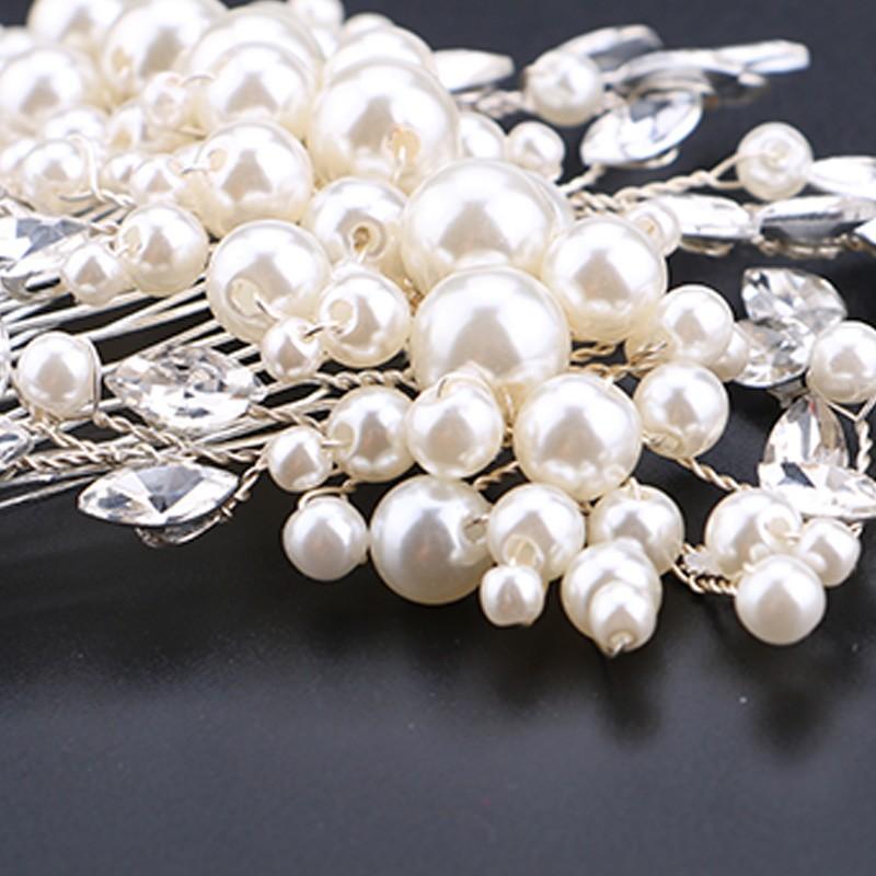 HTB15WDlOXXXXXbWapXXq6xXFXXXd Romantic Flower Bouquet Rhinestone Crystal Pearl Hair Jewelry For Wedding/Prom/Party