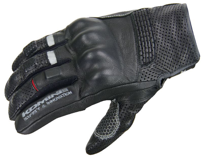 New arrival KOMINE GK 141 Super Fit Protect Leather Gloves APPIA summer Perforated glove