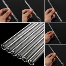Reusable Wedding Birthday Party Clear Glass Drinking Straws Thick Straws