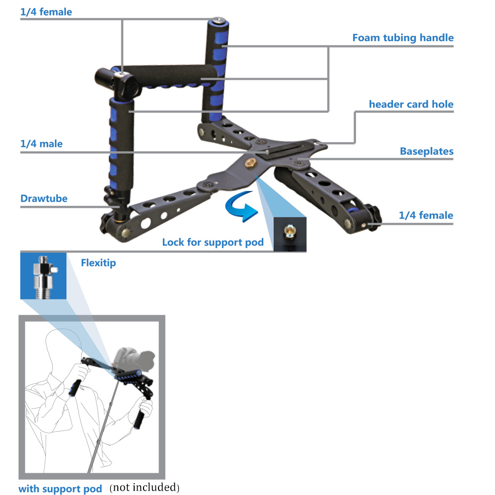 Foldable Video DSLR Support Rig Kit Handheld Grip Shoulder Mount Stabilizer for Canon Nikon Sony Panasonic Pentax Camera DV koolertron professional 15mm rail dia dslr shoulder pad support mount rig hand grip for cannon sony dv hdv hd camcorder