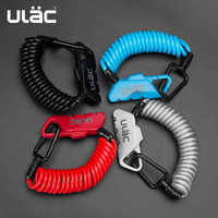 ULAC Mini Bike Locks Fold Backpack Helmet Bicycle Motobicycle Cable Lock 3 Digit Combination Anti-theft 1200mm Bike Bicycle Lock