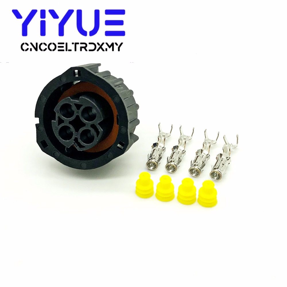 1 sets 4 pin tyco round HOWO A7 odometer speed sensor plug sealed auto connector 1-967325-1