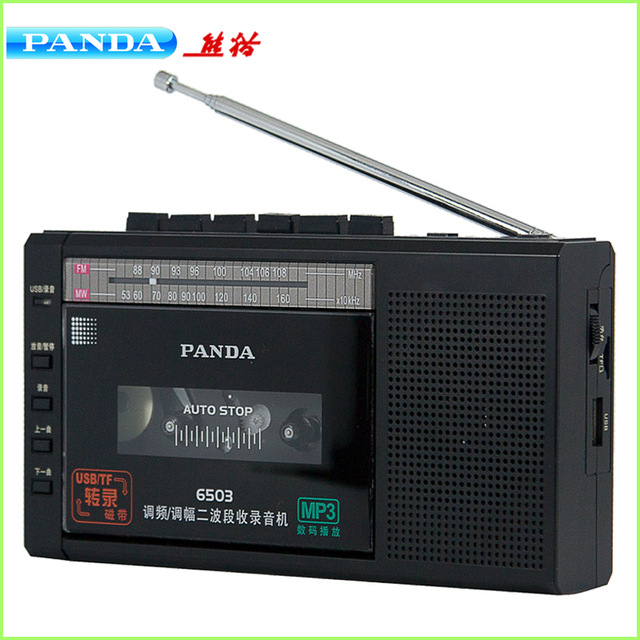 PANDA 6503 Recorder Tape Transfer Built in Microphone a key Recording U disk TF Card Play