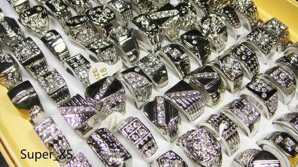 100 sztuk całej biżuterii moda emalia posrebrzane pierścienie wiele dla mężczyzn pierścień opakowaniach zbiorczych darmowa wysyłka RL009 w Pierścionki od Biżuteria i akcesoria na  Grupa 3