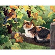 diamond painting Cats and birds,diy  mosaic,diy