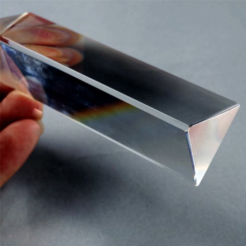 LHLL-Physics Education Prism Precision Optical Glass 4 inches physical science optical experiments triangular prism convex lens physics optical instruments durable quality