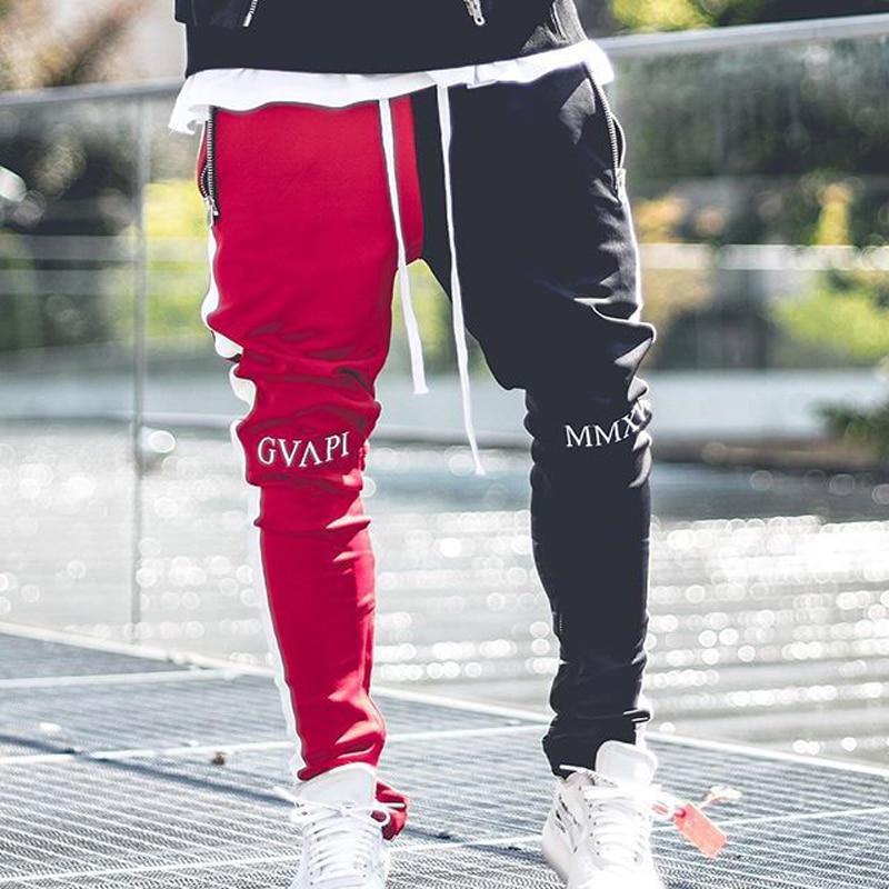 Image 5 - April MOMO 2019, Мужские штаны для бега, пэчворк, для тренажерного зала, для мужчин, для фитнеса, бодибилдинга, для тренажерного зала, штаны для бега, одежда, спортивные штаны, брюки Hombre-in Узкие брюки from Мужская одежда