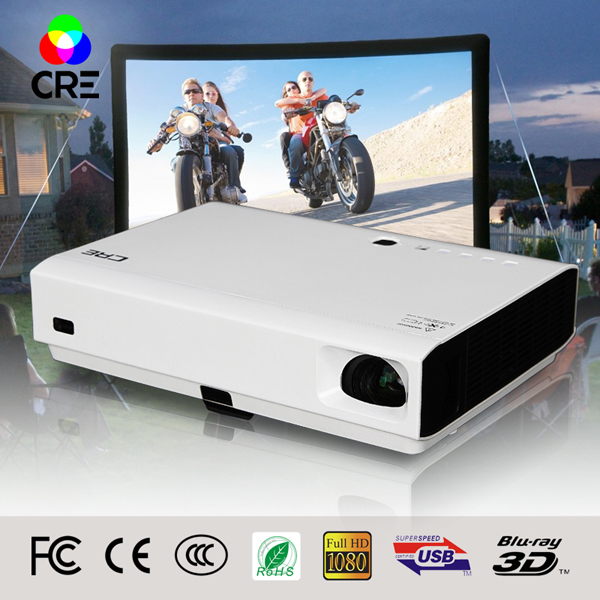 2016 Best Quality portable Mini Cheap Video Full HD 3d LED dlp laser projector with low cost best for home , school