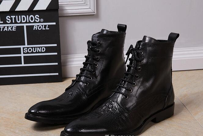 Black Leather Work Boots Promotion-Shop for Promotional Black ...