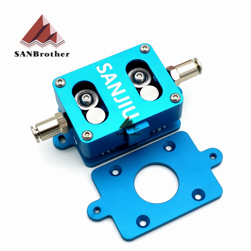 3D Printer Extruder Newest Feeder 1.75/2.85/3MM For UM2 Ultimaker 2 Extended+ Dual Wheel Aluminum Alloy HOT!!!!!! aluminum v6 hot end mount kit 1 75 3mm for ultimaker original ultimaker 2 um 2 extended 3d printer nozzle extrusion kit