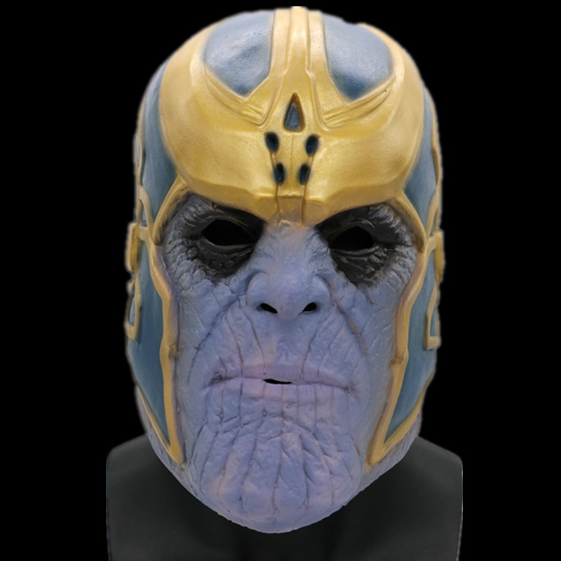 The Avengers Infinity War Superhero Thanos  Gauntlet Helmet  Cosplay Gloves Props Halloween Party Hard Latex Golf  Masks
