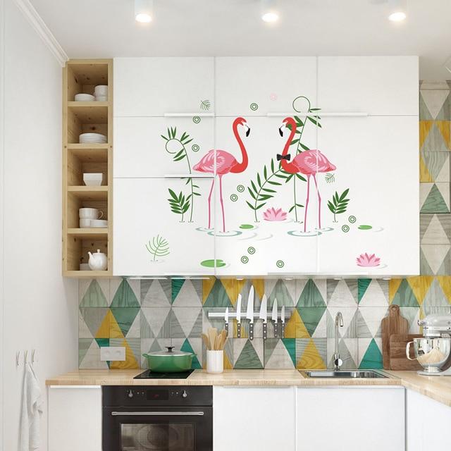 Diy 2 Edle Flamingos Hochzeit Dekoration Wand Aufkleber Wohnzimmer