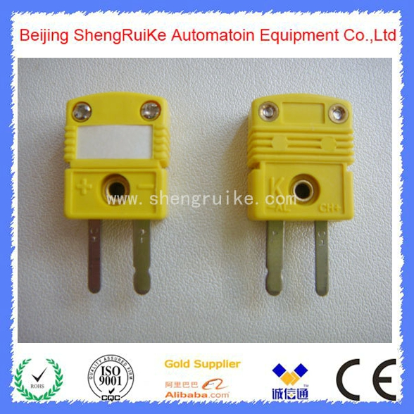 High Quality Mini Thermocouple Connector K type Yellow Color Flat pin Male and Female