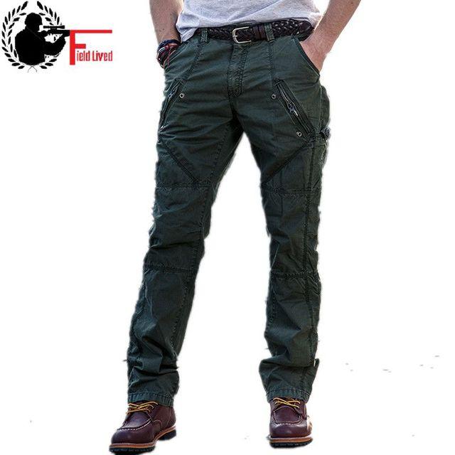 2019 ใหม่ Multi   Pocket ทหารกางเกงหลวมกางเกงสไตล์ผู้ชาย Joggers กางเกงยุทธวิธี Casual แฟชั่นกางเกงชาย