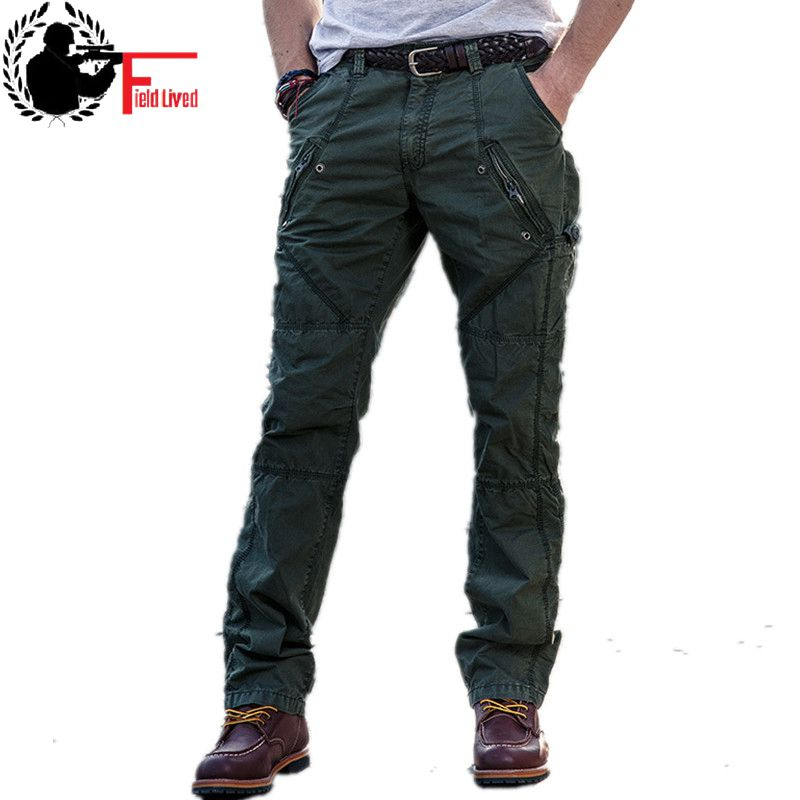 2019 New Multi-Pocket Men's Military Cargo Pants Loose Style Men Army Joggers Pants Tactical Casual Fashion Long Trousers Male