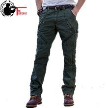 2019 nouveau multi poche hommes militaire Cargo pantalon lâche Style hommes armée Joggers pantalon tactique décontracté mode Long pantalon mâle