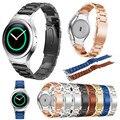 Ремешки Металла Нержавеющей Стали Watche Band + Разъем Для Samsung Gear S2 RM-720 Замена Смотреть Полоса С Инструментами Ремешки